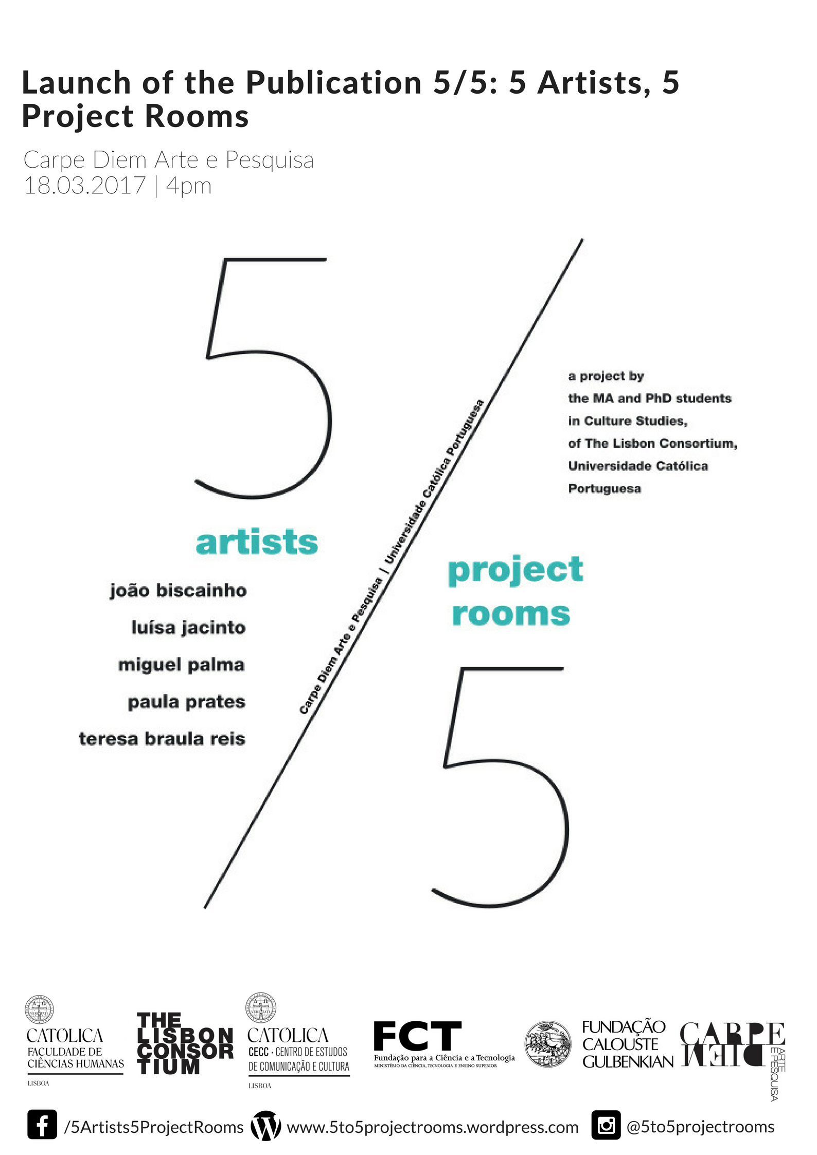 5/5:5 Artists, 5 Project Rooms